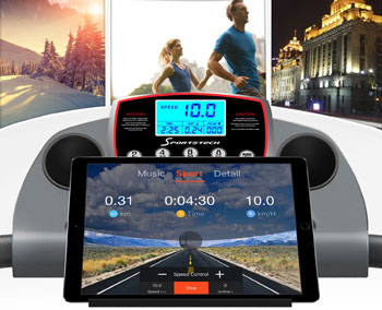 Sportstech F10 treadmill with Smartphone App control